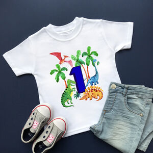 Dinosaur 1st Birthday T Shirt