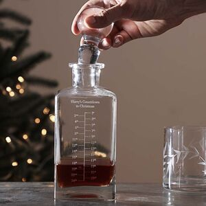 Personalised Christmas Advent Calendar Decanter Gift