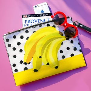 Banana Print Clutch Bag - bags & purses