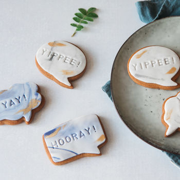 Yay! Yippee! Congratulations Marble Biscuit Gift Set