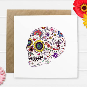 Day Of The Dead Greetings Card