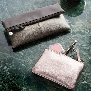 Personalised Fold Over Clutch - womens