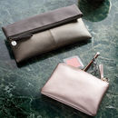 Personalised Fold Over Clutch