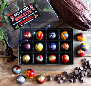 Balls Of Steel Chilli Chocolate Roulette 100g - stocking fillers