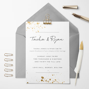 Ink Splash Wedding Invitation