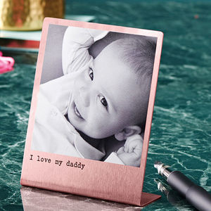 Personalised Solid Copper Polaroid Print - personalised gifts