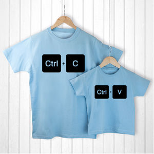 Personalised Copy And Paste T Shirt Set - Mens T-shirts & vests