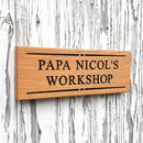 Engraved Oak Personalised Sign