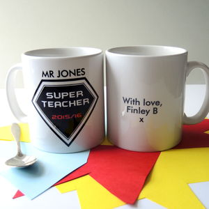 Super Teacher Personalised Mug - tableware