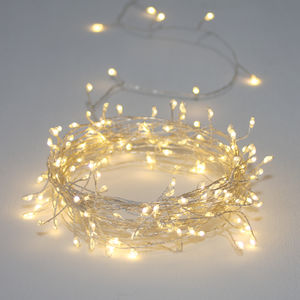 Silver Or Copper Cluster Wire Lights