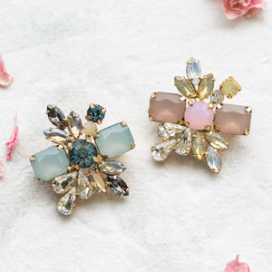 Petite Deco Cluster Pin Brooch - pins & brooches
