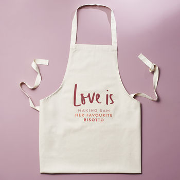 Love Is Personalised Apron