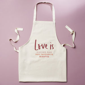 Love Is Personalised Apron - love is real