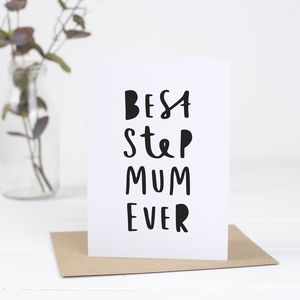 Best Step Mum Ever Mother's Day Card