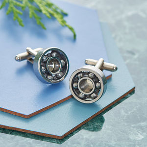 Moving Ball Bearing Cufflinks - gifts for him