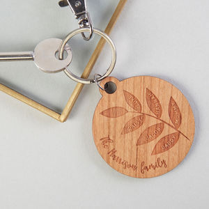 Father's Day Gift Family Tree Keyring - keyrings