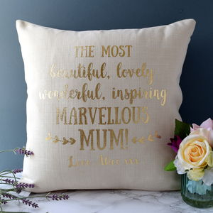 Personalised Marvellous Mum Cushion - new in home