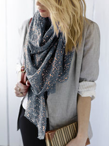 Personalised Metallic Scarf - fashion accessories