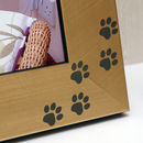 Paw Print Photo Frame in Gold