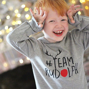Christmas 'Team Rudolph' T Shirt