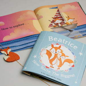 'Now You're The Biggest' Personalised Children's Book - gifts for babies