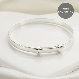 Personalised My First Diamond Christening Bangle - christening jewellery