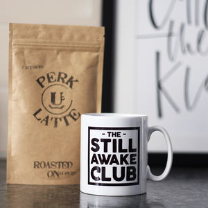 Father's Day 'Still Awake Club' Mug And Coffee Set - teas, coffees & infusions