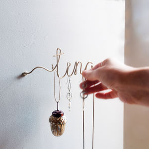 Personalised Wire Jewellery Hook - home decorating