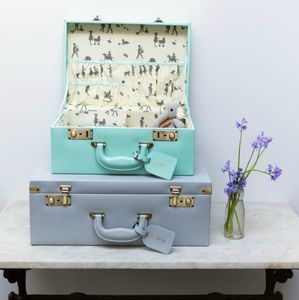 Personalised Memory Suitcase Keepsake Box Gift Set - keepsake boxes