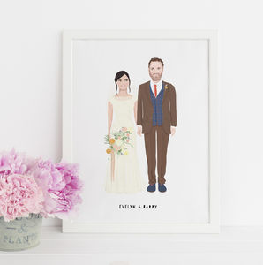 Personalised Wedding Portrait - 1st anniversary: paper