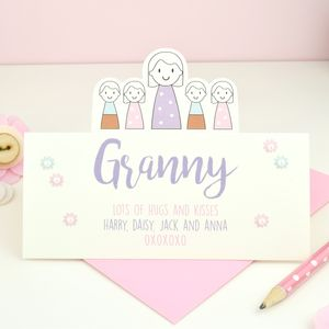 Personalised Granny's Mother's Day Card - personalised