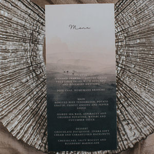 Dusty Desire Menu Card