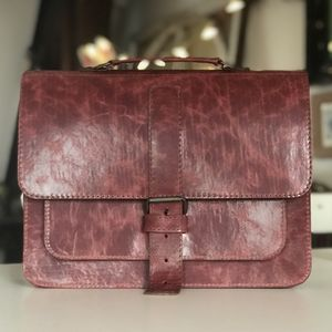 Cherry Leatcher Satchel