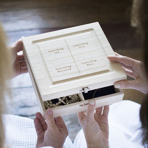 Something Old Four Quadrants Keepsake Box - the morning of the big day