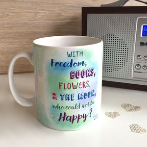 Book Quote Watercolour Mug - mugs