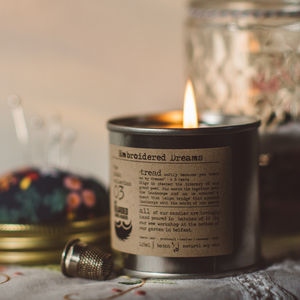 Embroidered Dreams Hand Poured Candle - candles & home fragrance