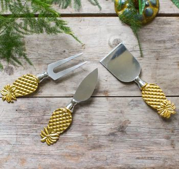 Golden Pineapple Cheese Knives