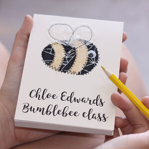 Personalised Back To School Class Embroidered Notepad