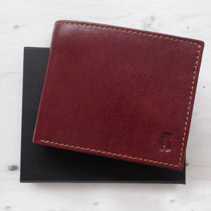 Men's Tan Leather Wallet Gift Boxed