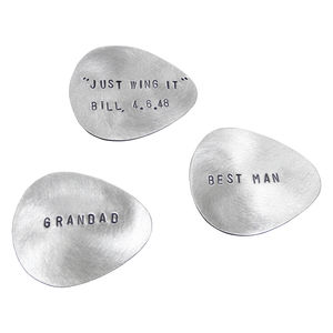 Personalised Sterling Silver Plectrum - decorative accessories