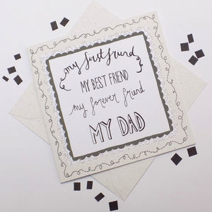 'My First Friend' Father's Day Card - father's day cards