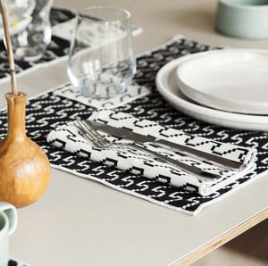 Areaware Set Of Four Bitmap Textiles Placemats - dining room