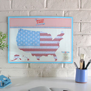Scratch Map® USA Travel Size Poster - posters & prints