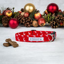 Red Christmas Dog Collar For Girl Or Boys