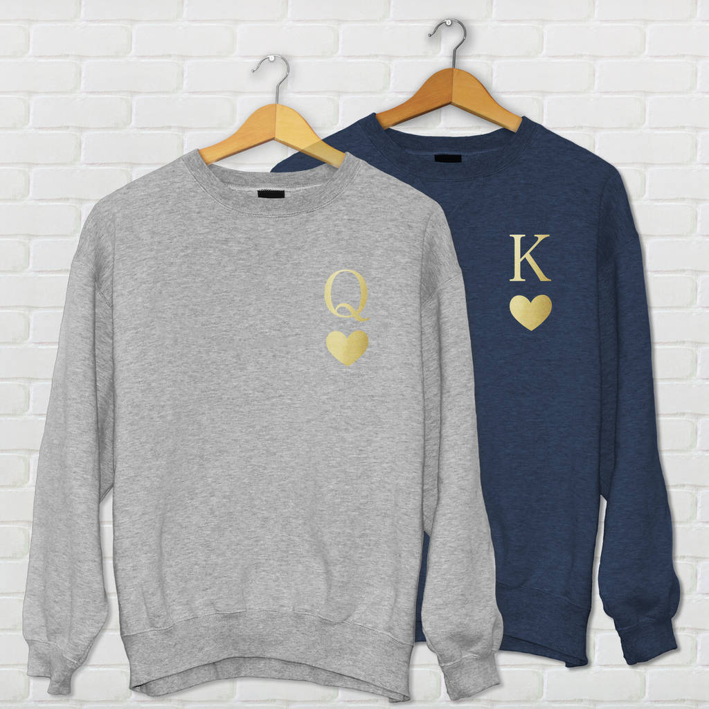 King Queen Of Hearts Couples Sweatshirt By We Love To Create