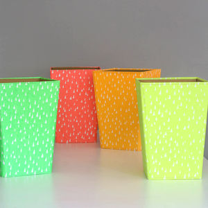 Recycled Fluoro Brights Waste Paper Bin Large - bins & buckets