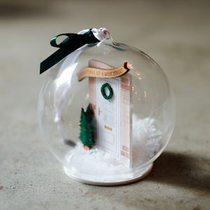 Personalised Family Door Bauble - baubles & hanging decorations