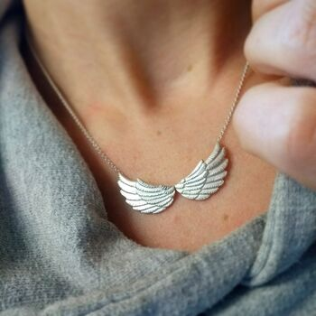 Personalised Angel Wing Necklace