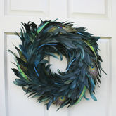 Peacock Feather Wreath - christmas decorations