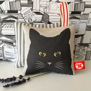 Black Cat Lavender Bag